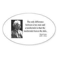 Mark Twain 38 Oval Decal