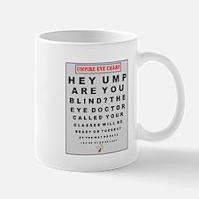 BASEBALL UMPIRE EYE CHART Mug