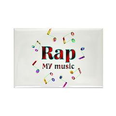 Rap Rectangle Magnet