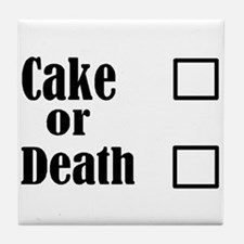 Cute Cake death Tile Coaster