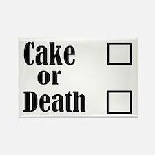 Cute Cake death Rectangle Magnet