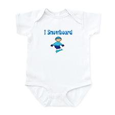 I Snowboard Blonde Infant Bodysuit