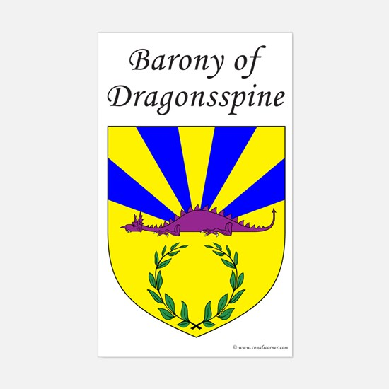 Dragonsspine Rectangle Decal