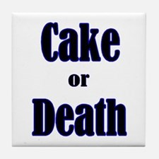 Cake death Tile Coaster
