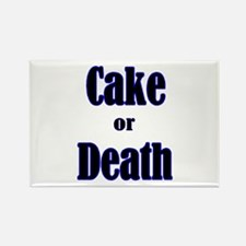 Funny Cake death Rectangle Magnet