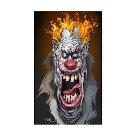 Burning Clown Rectangle Sticker