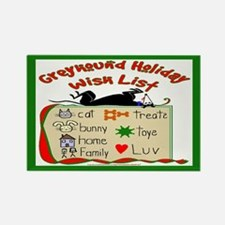 GREYHOUND HOLIDAY WISH LIST HOLIDAY RECT. MAGNET