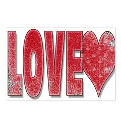 LOVE Postcards (Package of 8)