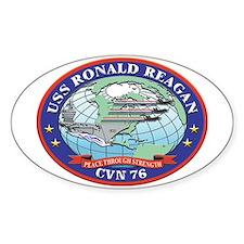 USS Ronald Reagan CVN 76 Oval Decal