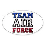 Team Air Force Oval Sticker