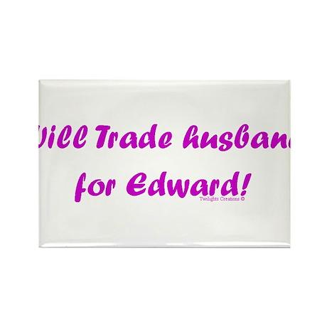 Husband for Edward Rectangle Magnet