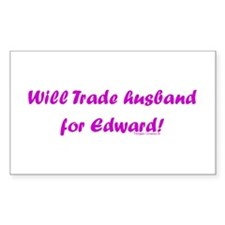 Husband for Edward Rectangle Decal