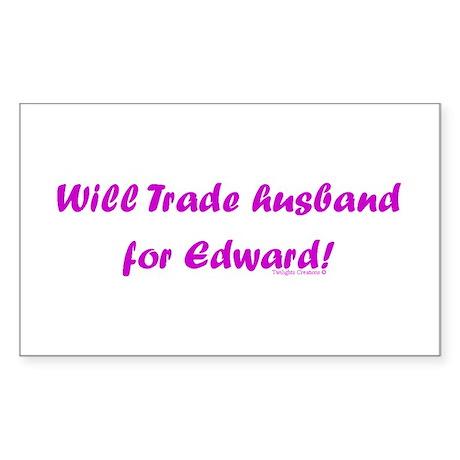 Husband for Edward Rectangle Sticker
