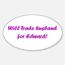 Husband for Edward Oval Decal