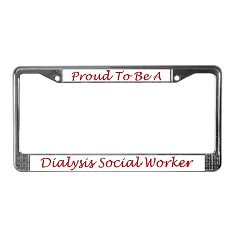Dialysis SW License Plate Frame