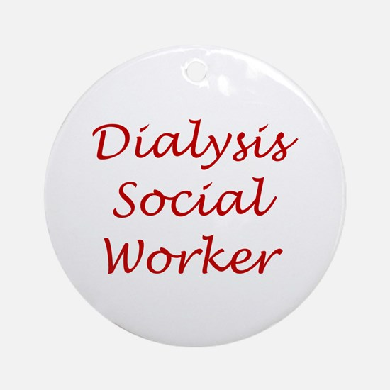 Dialysis SW Ornament (Round)