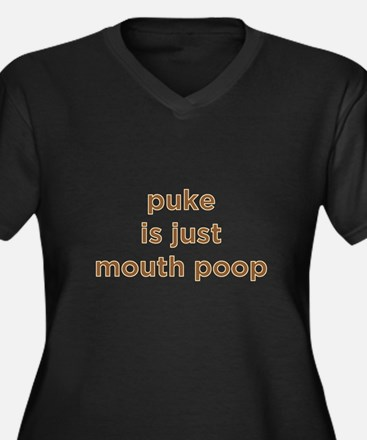Puke Is Just Mouth Poop Women's Plus Size V-Neck D