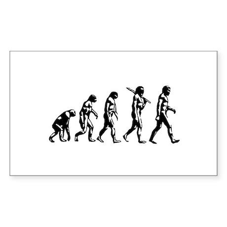 Evolution of Man Rectangle Sticker