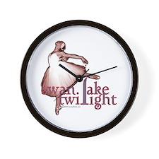 Swan Lake Twilight Wall Clock