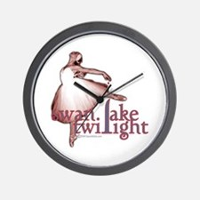 Swan Lake Twilight Wall Clock
