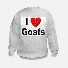 I Love Goats (Front) Sweatshirt
