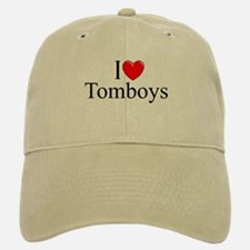 """I Love (Heart) Tomboys"" Baseball Baseball Cap"