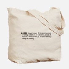 Definition of Peace Tote Bag