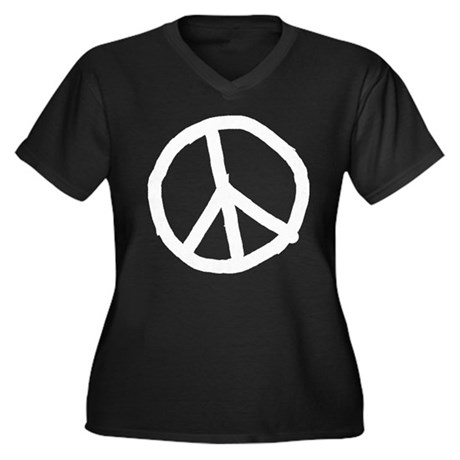 Definition of Peace Women's Plus Size V-Neck Dark