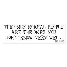 Normal people Bumper Car Sticker