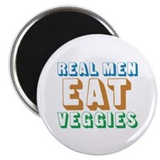 "Real Men Eat Veggies 2.25"" Magnet (10 pack)"