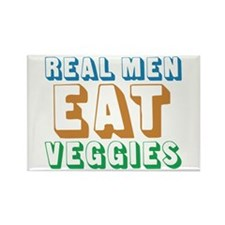 Real Men Eat Veggies Rectangle Magnet