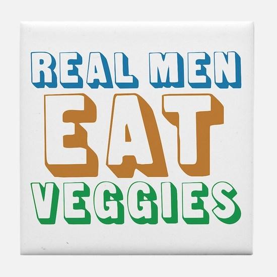 Real Men Eat Veggies Tile Coaster