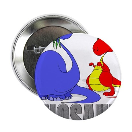 "Dinosaurs (Blue & Red) 2.25"" Button"