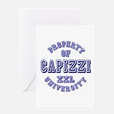 Property of Capizzi University Greeting Card