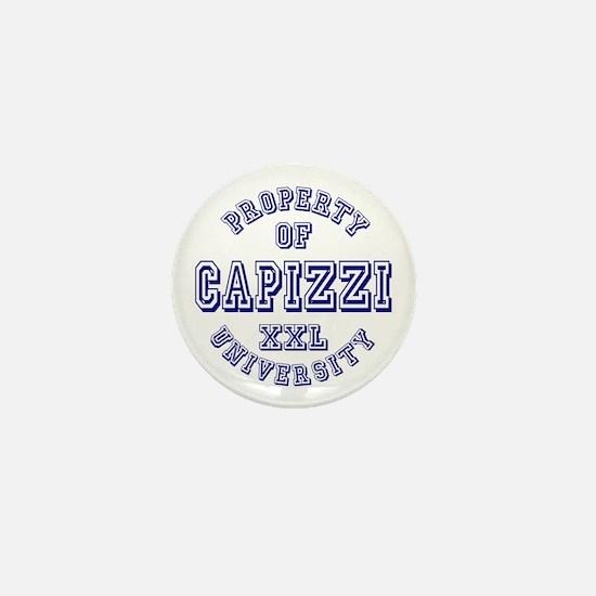 Property of Capizzi University Mini Button