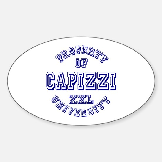Property of Capizzi University Oval Decal