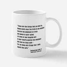Zechariah 8:16-17 Mug