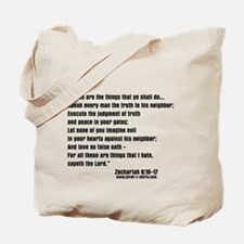 Zechariah 8:16-17 Tote Bag