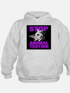 STOP ANIMAL TESTING purple Hoodie
