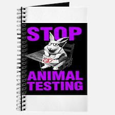 STOP ANIMAL TESTING purple Journal