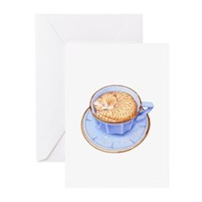 Cat in Coffee Greeting Cards (Pk of 10)