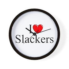 """""""I Love (Heart) Slackers"""" Wall Clock"""