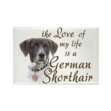 Love German Shorthair Rectangle Magnet