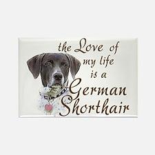 Love German Shorthair Rectangle Magnet