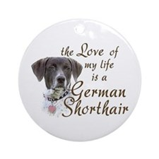 Love German Shorthair Ornament (Round)