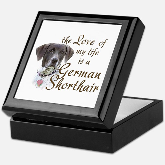 Love German Shorthair Keepsake Box