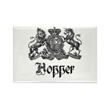 Hopper Vintage Crest Family Name Rectangle Magnet