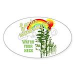 Forks Washington Oval Sticker (10 pk)