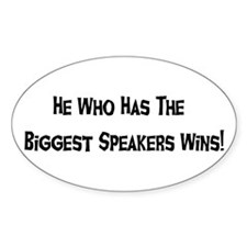 Big Speakers Oval Decal