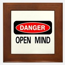 Danger Open Mind Framed Tile